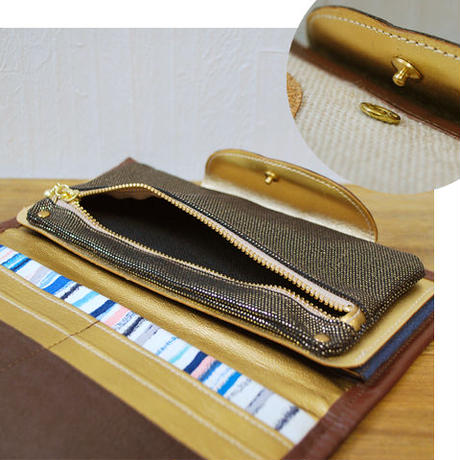 「夕暮れブルーな空」長財布( Long wallet) / no.26035