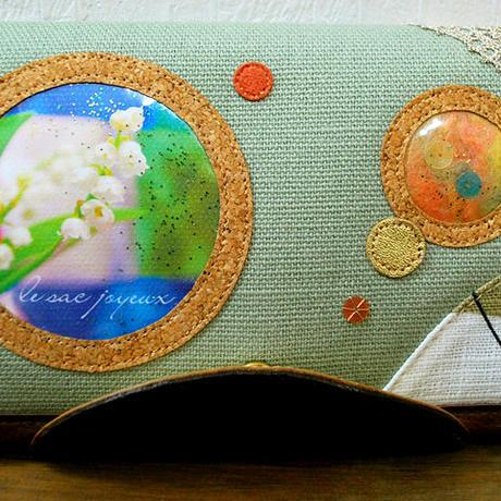 「スズランが届ける幸せ」長財布( Long wallet) / no.26036
