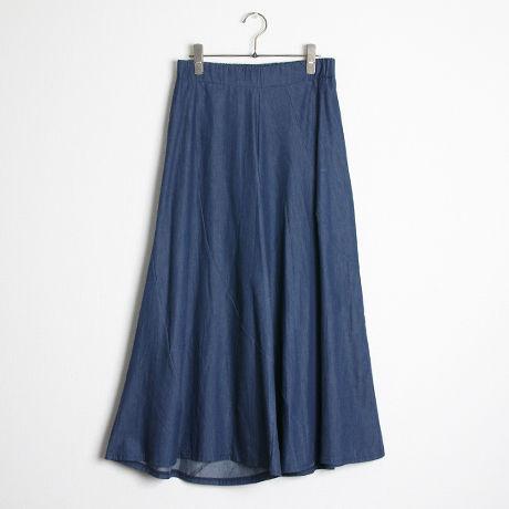 ライトデニムスカートパンツ