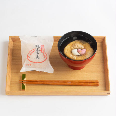 蛤志るこ 5個入り 化粧箱 (小豆4個 , 抹茶1個)