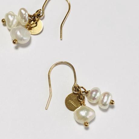 18K  Irregular freshwater pearl