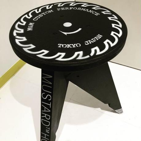 M&M -FURNITURE-  丸スツール (全塗装)M&M LOGO【Limited Black】 CIRCLE-STOOL