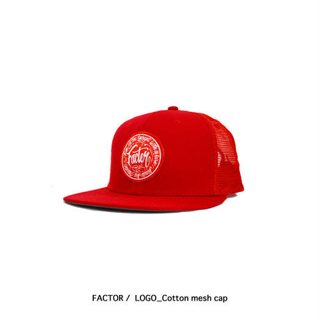 FACTOR / LOGO_Cotton mesh cap