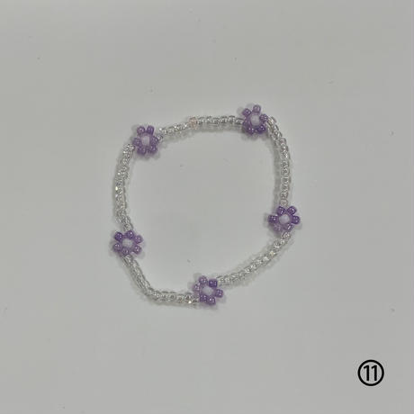 gom flower beads bracelet 🤍13カラー