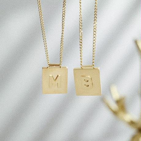 initial  gold necklace 🤎