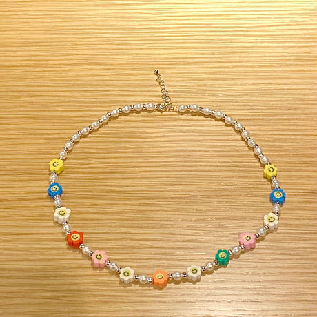 Smile flower pearl necklace 🌼
