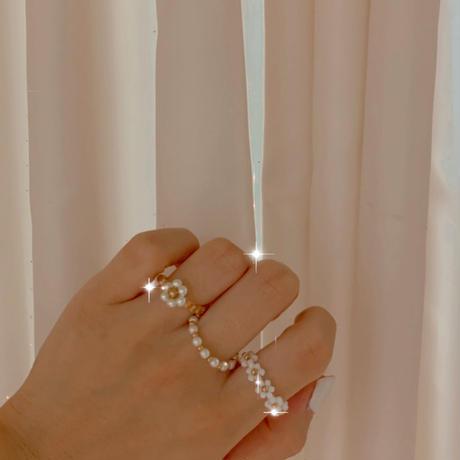 gold ring 3つset 🌙