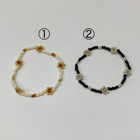 gom flower beads bracelet ❷🌼3カラー