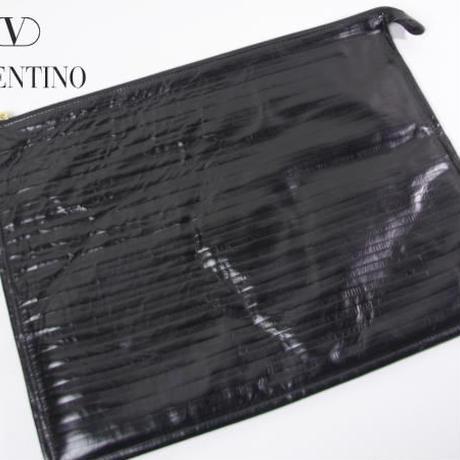 ★B137☆バレンチノ Valentino ロゴ柄クラッチバッグ 書類ケース