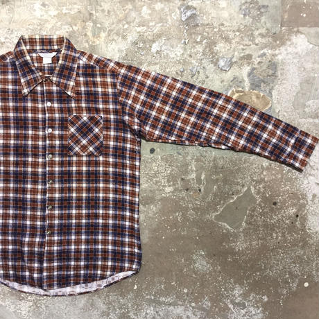 70's Val Mark Printed Flannel Shirt