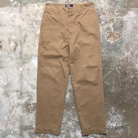 90's Polo Ralph Lauren Chino Pants L.BROWN W : 32