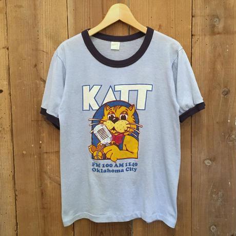 80's  sportswear KATT-FM Ringer Tee