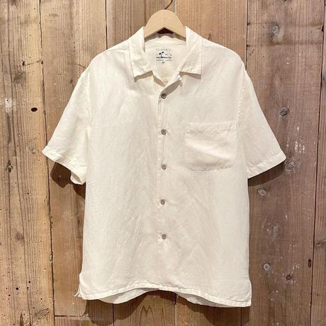 G.H. Bass & Co.  Linen×Silk Open Collar Shirt