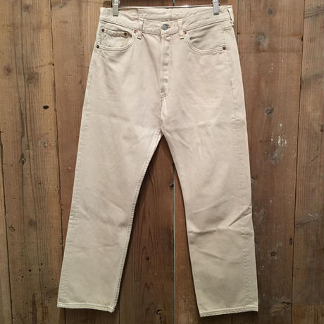 90's Levi's 501 Color Denim Pants L.BEIGE W : 33