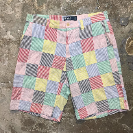 Polo Ralph Lauren Seersucker Patchwork  Shorts W: 30