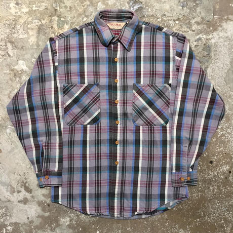 90's BIG MAC Heavy Flannel Shirt GRAY