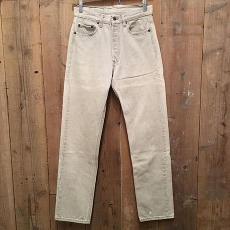 90's Levi's 501 Color Denim Pants L.GRAY W : 30