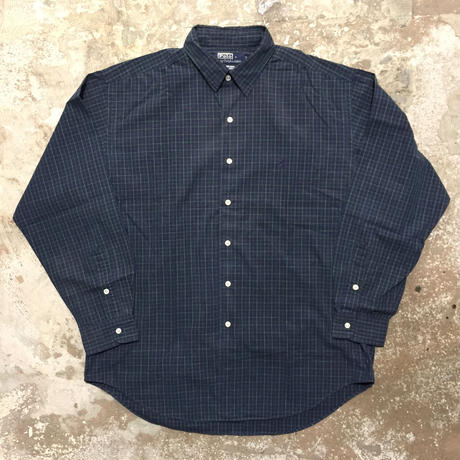 Polo Ralph Lauren L/S Cotton Shirt NAVY×GREEN