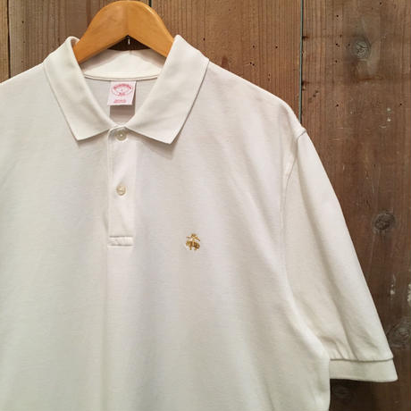 Brooks Brothers Poloshirt WHITE SIZE : L