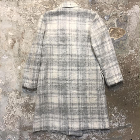 70's~ Unknown Double Breasted Plaid Coat