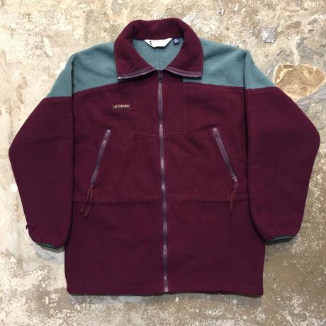 90's Columbia Fleece Jacket PURPLE×BLUE GRAY