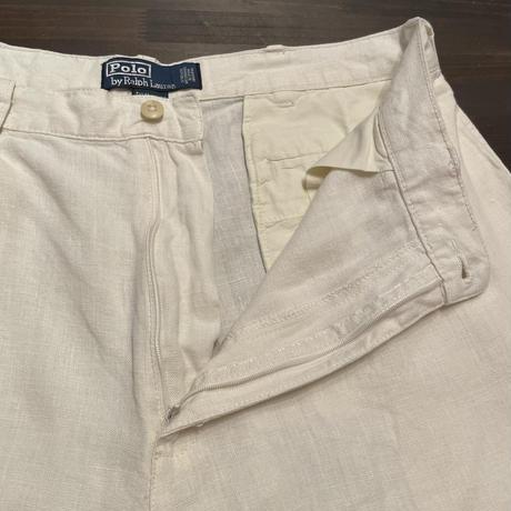 90's~ Polo Ralph Lauren Two Tuck Linen Shorts
