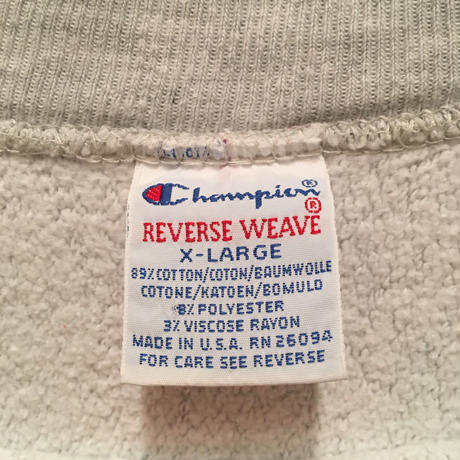 90's Champion REVERSE WEAVE Sweat Shirt WORLDGATE (SIZE : XL)