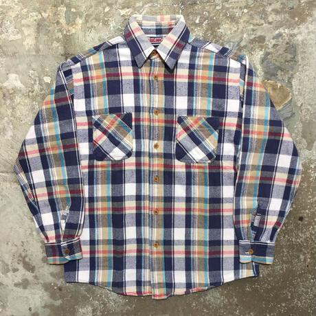 80's BIG MAC Heavy Flannel Shirt NAVY×WHITE