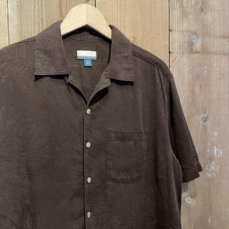 BREAK WATER Silk Open Collar Shirt