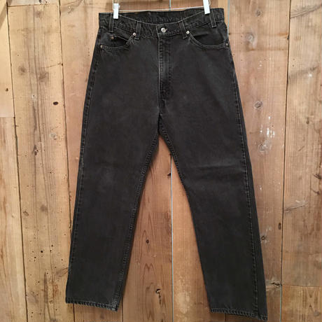 90's Levi's 505 Black Cotton Pants  W 36  #2