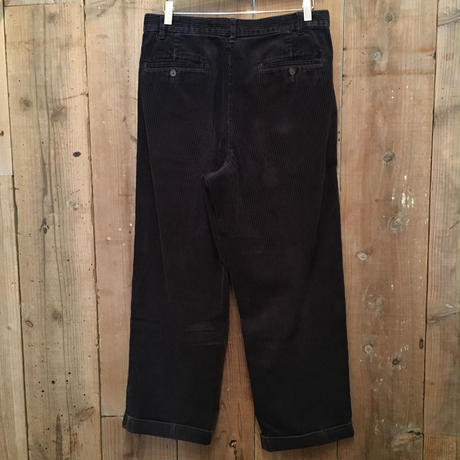 90's~ Eddie Bauer Two Tuck Corduroy Pants D.NAVY W 33