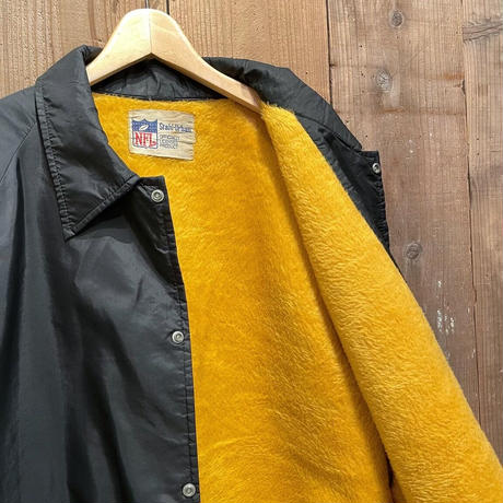 80's Pittsburgh Steelers Boa Lined Coach Jacket