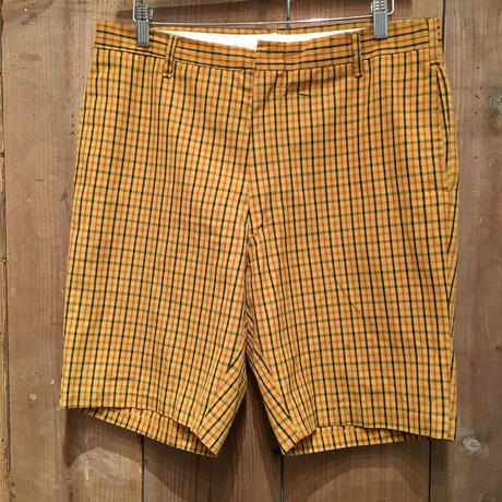 70's WELLS ROYAL PREST Plaid Shorts