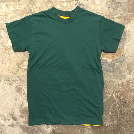 ~90's Unknown Plain Reversible Tee GREEN