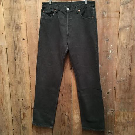 90's Levi's 501 Color Denim Pants GREEN W : 36