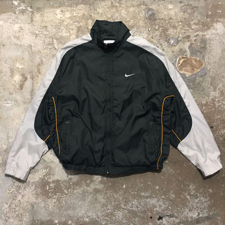90's NIKE Nylon Jacket D.GREEN×L.GREY