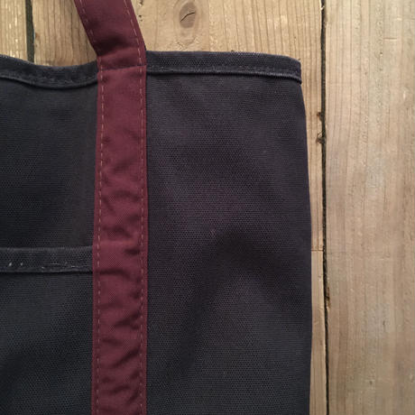 90's LANDS' END Zip Top Canvas Tote Bag  MEDIUM