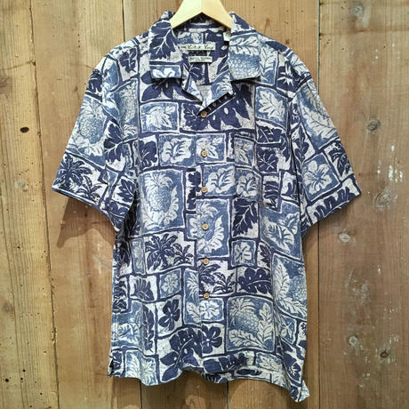 Batik Bay Silk Aloha Shirt BLUE