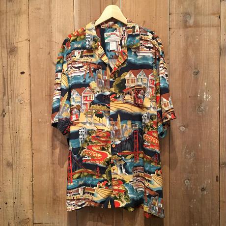 80's~ PARADISE FOUND Rayon Aloha Shirt