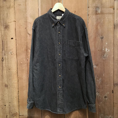 L.L.Bean Black Denim B.D Shirt