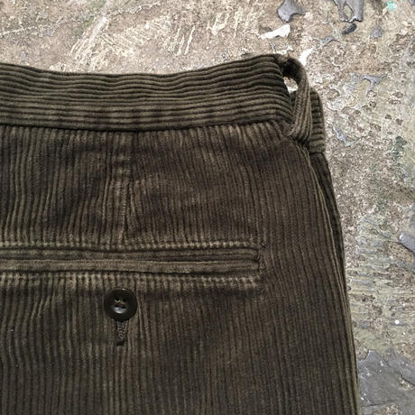 Brooks Brothers Two Tuck Corduroy Pants OLIVE