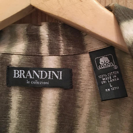 BRANDINI Cotton Open Collar Shirt