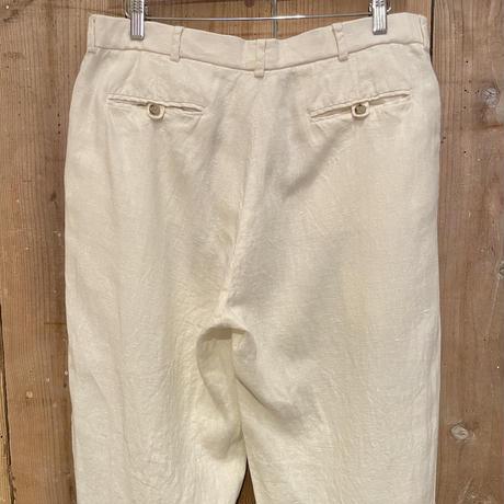 90's Polo Ralph Lauren Two Tuck Linen Slacks