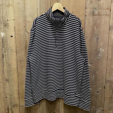 NAUTICA Half Zip Striped Sweat Shirt