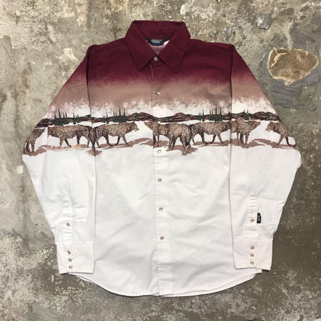 90's BROOKS &DUNN Printed Western Shirt