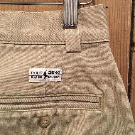 90's Polo Ralph Lauren Chino Pants KHAKI W : 32