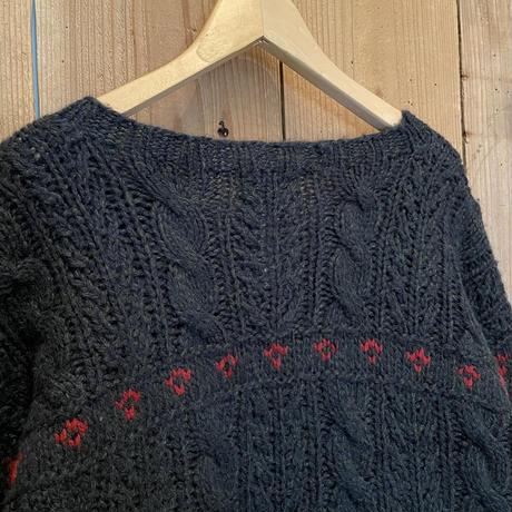 80's~ Woolrich Dogs Wool Sweater