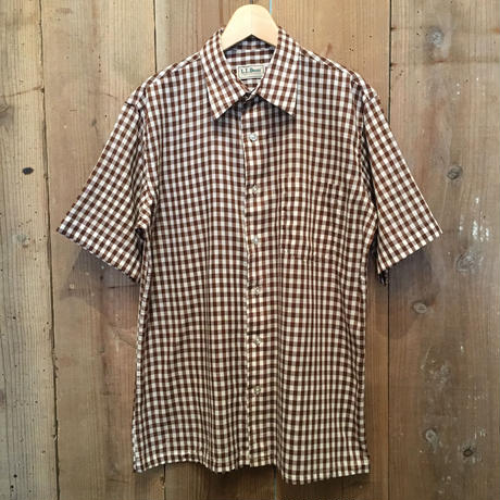 80's L.L.Bean Poly/Cotton Plaid Shirt