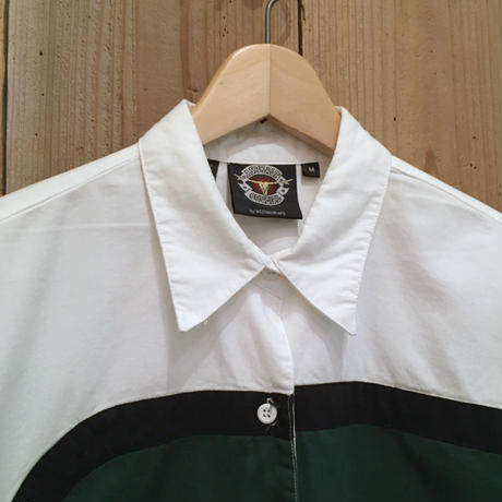 90's~ ASPHALT COWGIRL Cotton Designed Shirt