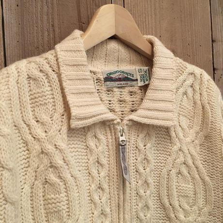 aran crafts Aran Knit Zip Cardigan